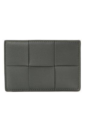 Женский кожаный футляр для кредитных карт BOTTEGA VENETA серого цвета, арт. 651401/VCQC4 | Фото 1