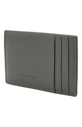 Женский кожаный футляр для кредитных карт BOTTEGA VENETA серого цвета, арт. 651401/VCQC4 | Фото 2