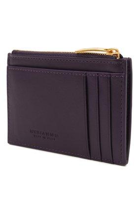 Женский кожаный футляр для кредитных карт BOTTEGA VENETA темно-фиолетового цвета, арт. 651393/VCQC4 | Фото 2