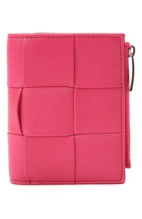 Женские кожаное портмоне BOTTEGA VENETA розового цвета, арт. 651381/VCQC4 | Фото 1