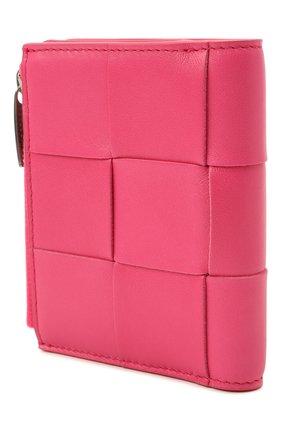 Женские кожаное портмоне BOTTEGA VENETA розового цвета, арт. 651381/VCQC4 | Фото 2