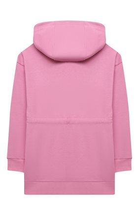 Детское хлопковое худи FENDI розового цвета, арт. JFH121/5V0/8A-12+ | Фото 2