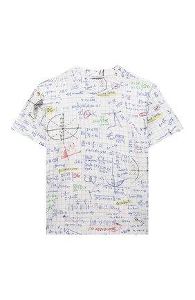 Детская хлопковая футболка DOLCE & GABBANA белого цвета, арт. L4JTDH/HS7F1/8-14 | Фото 1
