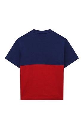 Детская хлопковая футболка EMPORIO ARMANI красного цвета, арт. 6K4TJD/4J54Z | Фото 2