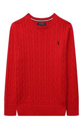Детский хлопковый пуловер POLO RALPH LAUREN красного цвета, арт. 323702674 | Фото 1