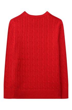 Детский хлопковый пуловер POLO RALPH LAUREN красного цвета, арт. 323702674 | Фото 2