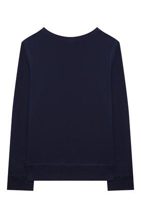 Детский хлопковый свитшот POLO RALPH LAUREN синего цвета, арт. 313850652 | Фото 2 (Рукава: Длинные; Материал внешний: Хлопок; Ростовка одежда: 12 лет | 152 см, 13 - 15 лет | 158 см)