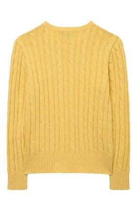 Детский хлопковый пуловер POLO RALPH LAUREN желтого цвета, арт. 313737921 | Фото 2