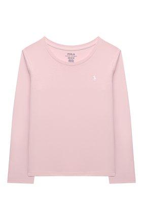 Детская хлопковый лонгслив POLO RALPH LAUREN розового цвета, арт. 312841122 | Фото 1