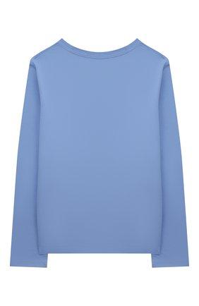 Детская хлопковый лонгслив POLO RALPH LAUREN голубого цвета, арт. 311854212 | Фото 2