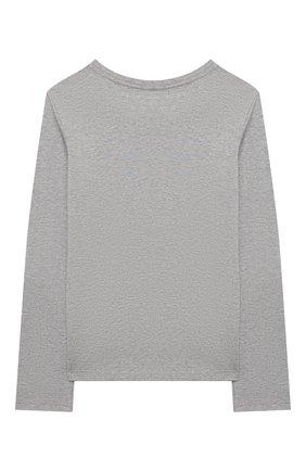 Детская хлопковый лонгслив POLO RALPH LAUREN серого цвета, арт. 311841122 | Фото 2 (Рукава: Длинные; Материал внешний: Хлопок; Ростовка одежда: 18 мес | 86 см, 3 года | 98 см, 4 года | 104 см)