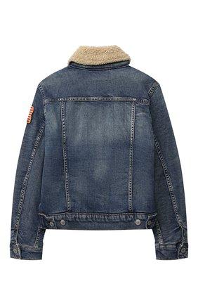 Детского джинсовая куртка POLO RALPH LAUREN голубого цвета, арт. 323759990 | Фото 2