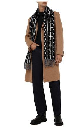 Мужской шарф из шерсти и кашемира VALENTINO черного цвета, арт. WY2ER033/QQB   Фото 2