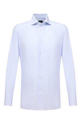 Мужская хлопковая сорочка ERMENEGILDO ZEGNA голубого цвета, арт. 201008/9MS0BA | Фото 1