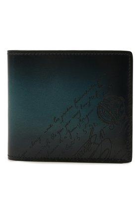 Мужской кожаное портмоне BERLUTI темно-бирюзового цвета, арт. N225430   Фото 1