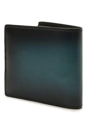 Мужской кожаное портмоне BERLUTI темно-бирюзового цвета, арт. N225430   Фото 2