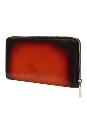 Мужской кожаное портмоне BERLUTI оранжевого цвета, арт. N225437   Фото 2