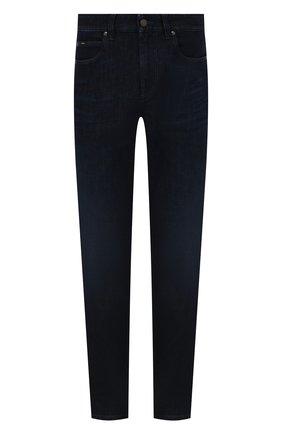 Мужские джинсы Z ZEGNA темно-синего цвета, арт. VY751/ZZ530 | Фото 1 (Материал внешний: Хлопок; Длина (брюки, джинсы): Стандартные; Кросс-КТ: Деним; Силуэт М (брюки): Прямые; Стили: Кэжуэл; Детали: Потертости)