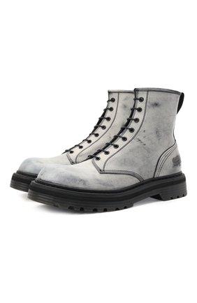 Мужские кожаные ботинки PREMIATA белого цвета, арт. 31543/TUCS0N | Фото 1 (Материал внутренний: Натуральная кожа; Подошва: Массивная; Мужское Кросс-КТ: Ботинки-обувь)
