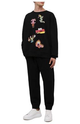 Мужской хлопковый свитшот DOMREBEL черного цвета, арт. MLUXURY/SWEATSHIRT | Фото 2