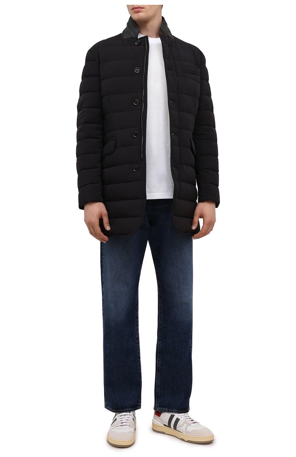 Мужская пуховик nabil-kn MOORER черного цвета, арт. NABIL-KN/M0UGI100240-TEPA009 | Фото 2 (Кросс-КТ: Куртка; Мужское Кросс-КТ: пуховик-короткий; Рукава: Длинные; Длина (верхняя одежда): До середины бедра; Материал внешний: Синтетический материал; Стили: Классический; Материал подклада: Синтетический материал; Материал утеплителя: Пух и перо)