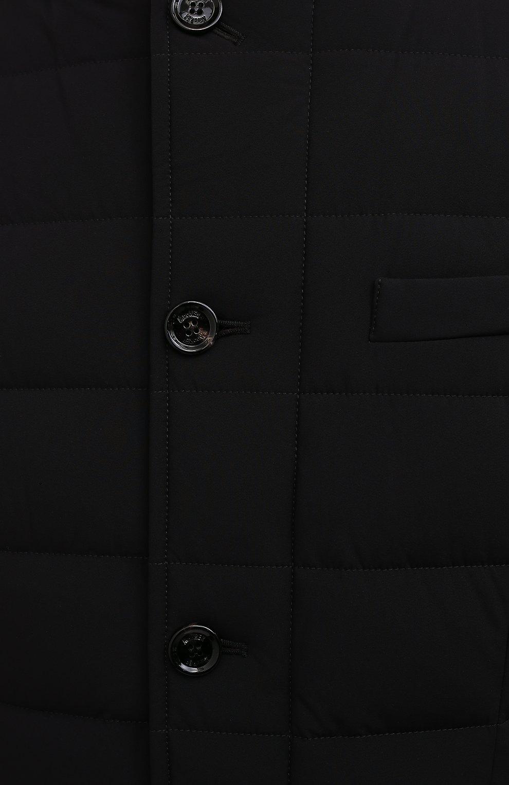 Мужская пуховик nabil-kn MOORER черного цвета, арт. NABIL-KN/M0UGI100240-TEPA009 | Фото 5 (Кросс-КТ: Куртка; Мужское Кросс-КТ: пуховик-короткий; Рукава: Длинные; Длина (верхняя одежда): До середины бедра; Материал внешний: Синтетический материал; Стили: Классический; Материал подклада: Синтетический материал; Материал утеплителя: Пух и перо)