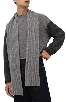 Мужской кашемировый шарф MOORER серого цвета, арт. S0VANA-CWS/M0USC100003-TEPA177 | Фото 2
