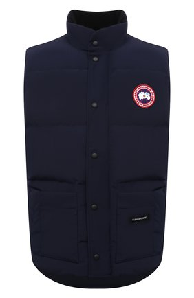 Мужской пуховый жилет freestyle crew CANADA GOOSE темно-синего цвета, арт. 4154M | Фото 1 (Материал подклада: Синтетический материал; Материал внешний: Синтетический материал; Материал утеплителя: Пух и перо; Кросс-КТ: Куртка, Пуховик; Стили: Кэжуэл; Длина (верхняя одежда): Короткие)