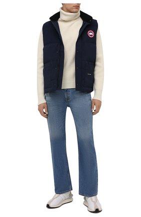 Мужской пуховый жилет freestyle crew CANADA GOOSE темно-синего цвета, арт. 4154M | Фото 2 (Материал подклада: Синтетический материал; Материал внешний: Синтетический материал; Материал утеплителя: Пух и перо; Кросс-КТ: Куртка, Пуховик; Стили: Кэжуэл; Длина (верхняя одежда): Короткие)