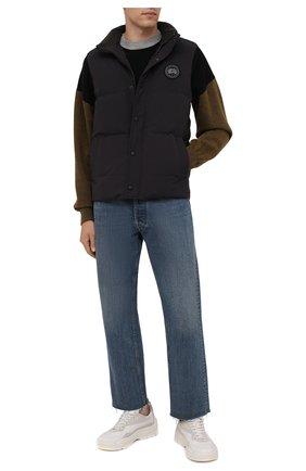 Мужской пуховый жилет garso CANADA GOOSE темно-синего цвета, арт. 4151MB   Фото 2 (Материал утеплителя: Пух и перо; Материал внешний: Синтетический материал; Материал подклада: Синтетический материал; Кросс-КТ: Куртка, Пуховик; Стили: Кэжуэл; Длина (верхняя одежда): Короткие)