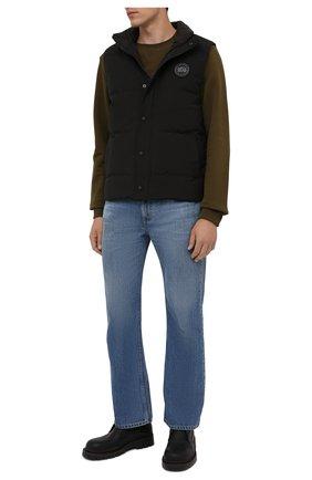 Мужской пуховый жилет garso CANADA GOOSE черного цвета, арт. 4151MB | Фото 2 (Материал внешний: Синтетический материал; Материал подклада: Синтетический материал; Материал утеплителя: Пух и перо; Кросс-КТ: Куртка, Пуховик; Стили: Кэжуэл; Длина (верхняя одежда): Короткие)