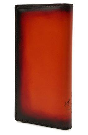 Мужской кожаное портмоне BERLUTI оранжевого цвета, арт. N225431   Фото 2