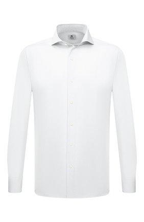 Мужская хлопковая сорочка LUIGI BORRELLI белого цвета, арт. PS20026/FELICE/ST/EV/PC | Фото 1