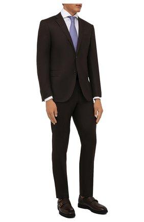 Мужская хлопковая сорочка LUIGI BORRELLI белого цвета, арт. PS20026/FELICE/ST/EV/PC | Фото 2