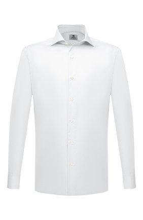 Мужская хлопковая сорочка LUIGI BORRELLI белого цвета, арт. PS30051/ACHILLE/ST/EV/PC | Фото 1