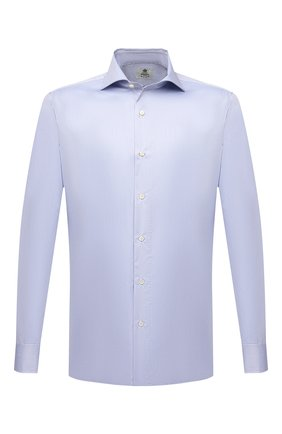 Мужская хлопковая сорочка LUIGI BORRELLI голубого цвета, арт. PS30051/ACHILLE/ST/EV/PC | Фото 1