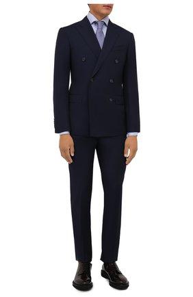 Мужская хлопковая сорочка LUIGI BORRELLI голубого цвета, арт. PS30051/ACHILLE/ST/EV/PC | Фото 2