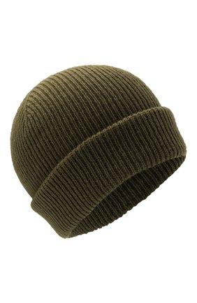 Мужская шерстяная шапка INVERNI хаки цвета, арт. 4997 CM   Фото 1 (Материал: Шерсть; Кросс-КТ: Трикотаж)