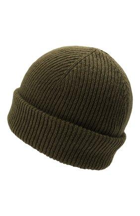 Мужская шерстяная шапка INVERNI хаки цвета, арт. 4997 CM   Фото 2 (Материал: Шерсть; Кросс-КТ: Трикотаж)