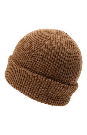 Мужская шерстяная шапка INVERNI светло-коричневого цвета, арт. 4997 CM   Фото 2 (Материал: Шерсть; Кросс-КТ: Трикотаж)