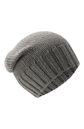 Мужская кашемировая шапка INVERNI серого цвета, арт. 4226 CM   Фото 1 (Материал: Шерсть, Кашемир; Кросс-КТ: Трикотаж)