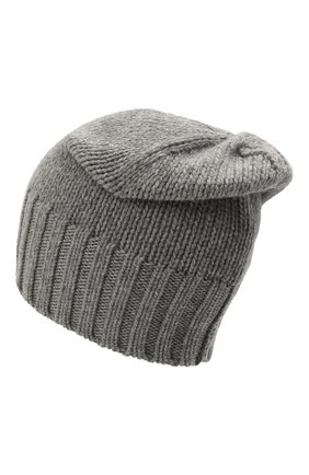 Мужская кашемировая шапка INVERNI серого цвета, арт. 4226 CM   Фото 2 (Материал: Шерсть, Кашемир; Кросс-КТ: Трикотаж)