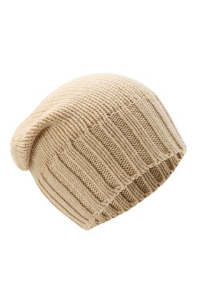 Мужская кашемировая шапка INVERNI светло-бежевого цвета, арт. 4226 CM   Фото 1 (Материал: Кашемир, Шерсть; Кросс-КТ: Трикотаж)