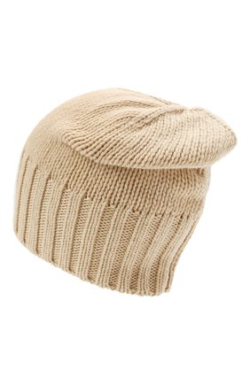 Мужская кашемировая шапка INVERNI светло-бежевого цвета, арт. 4226 CM   Фото 2 (Материал: Кашемир, Шерсть; Кросс-КТ: Трикотаж)