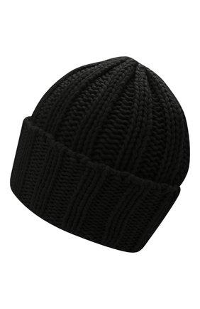 Мужская кашемировая шапка INVERNI черного цвета, арт. 1128 CM   Фото 2