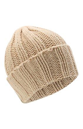 Мужская кашемировая шапка INVERNI светло-бежевого цвета, арт. 1128 CM   Фото 1 (Материал: Кашемир, Шерсть; Кросс-КТ: Трикотаж)