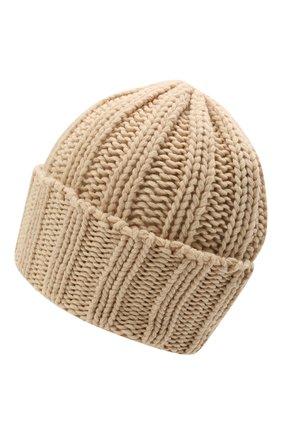 Мужская кашемировая шапка INVERNI светло-бежевого цвета, арт. 1128 CM   Фото 2 (Материал: Кашемир, Шерсть; Кросс-КТ: Трикотаж)