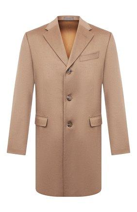 Мужской кашемировое пальто CORNELIANI бежевого цвета, арт. 881403-1812098/00 | Фото 1