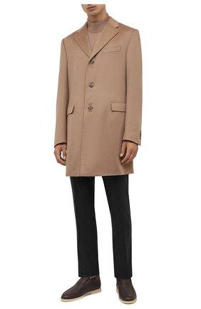 Мужской кашемировое пальто CORNELIANI бежевого цвета, арт. 881403-1812098/00 | Фото 2