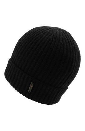 Мужская кашемировая шапка CORNELIANI черного цвета, арт. 880316-1825185/00 | Фото 2 (Материал: Кашемир, Шерсть; Кросс-КТ: Трикотаж)